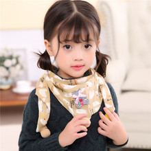 New winter scarf children boys girls collar cotton triangle towel baby babys