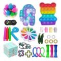 30pc Zappeln Spielzeug Anti Stress Set Stretchy Saiten Push Geschenk Pack Erwachsene Kinder Squishy Sensorischen Antistress Relief Fige Spielzeug