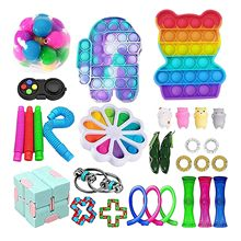 30pc zabawki typu Fidget zestaw antystresowy rozciągliwe struny Push zestaw prezentowy dorośli dzieci Squishy Sensory antystresowy Relief Fige zabawki