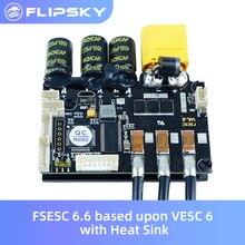 Skate Eletrico Fsesc 6.6 Gebaseerd Op VESC6 Met Koellichaam Electronic Speed Controller Voor Surfen/Skiën Flipsky