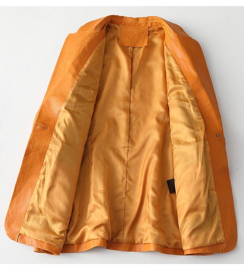 100% Natural Sheepskin Coat Female Streetwear Genuine Leather Jacket Women Korean Office Ladies Real Leather Jackets Zy04