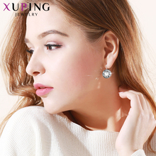 Top Sale Crysral from Swarovski Xuping Fishion Earring Colorful High Quality Platinum Color Plated Charm for Women Gift XE2189