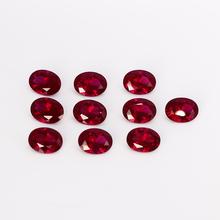 10-10 5ct kamienie szlachetne luzem wysokiej jakości 12x16MM owalne kamienie Ruby DIY biżuteria dekoracyjna akcesoria prezenty 5 sztuk zestaw hurtownie tanie tanio NASIA N STYLE NGSTC Czerwony Ruby Gemstones Oval 5pcs