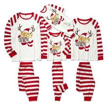 Семейный Рождественский пижамный комплект семейный образ одежда