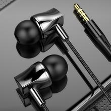 Earphones Wired Sport-Headset Universal In-Ear for with Mic Wired-Control-Bass