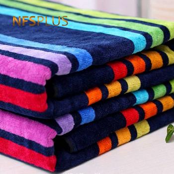 Ręcznik w paski 100 bawełna Rainbow Design ręcznik kąpielowy do rąk 34x75cm chłonne podróże sportowe ręczniki frotte myjka tanie i dobre opinie NFS PLUS Ręcznik do twarzy Stripe Dzianiny Prostokąt approx 100 (g) T-212B Można prać w pralce 5 s-10 s Przędzy barwionej