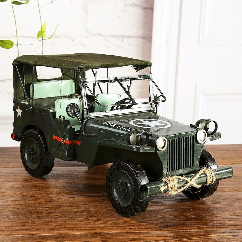 37x20x20cm grand Willis en fer forgé pour Jeep voiture modèle moulé sous pression roues chaudes Autos De Juguete modèle voiture jouets pour enfants