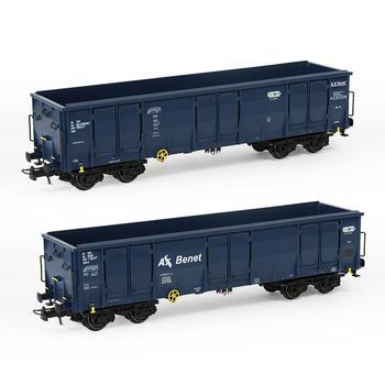 1pc HO skala 40ft High-side Gondola samochód 187 drukowane wagony kolejowe Model pociągu przewóz samochód towarowy C8742P kolejowe Diorama