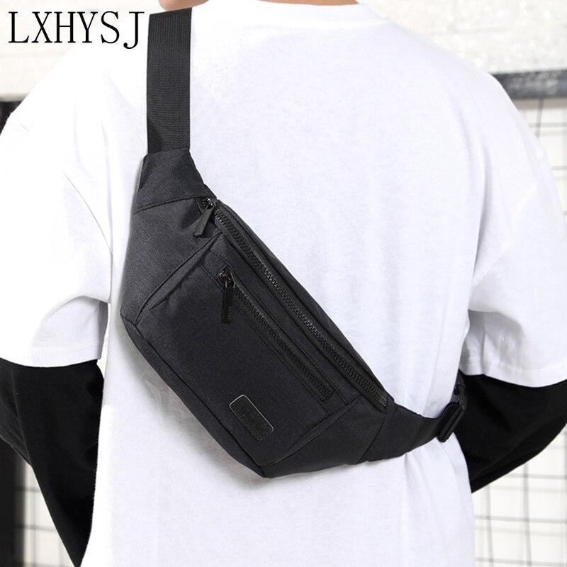 Men Leisure Waterproof Waist Bag Belt Bag Large Capacity Outdoor Fanny Pack Male Simple Wear Resistant Waist Pack Phone Pouch