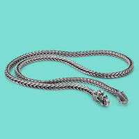 Men's 925 sterling silver necklaces dragon 925 sliver popular necklaces Solid silver body chain jewelry vintage accessories