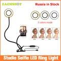 Светодиодная кольцевая лампа с держателем для мобильного телефона для iPhone/Android