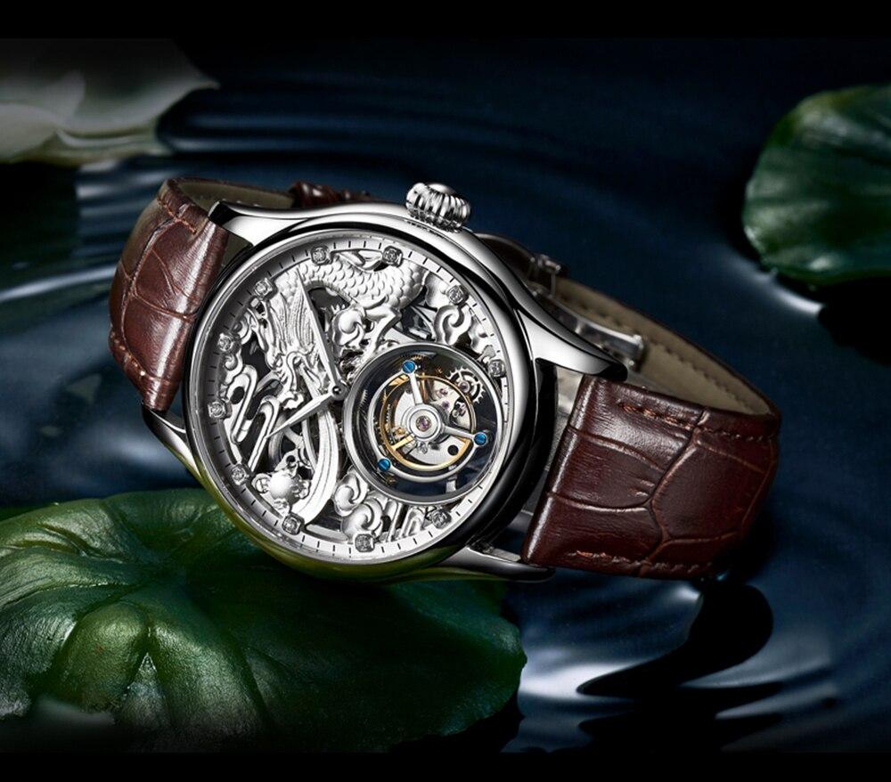 New GUANQIN Original Tourbillon watch men top brand luxury waterproof skeleton Sapphire Mechanical Tourbillon relogio masculino 21