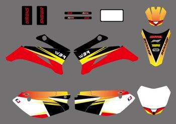 Moto estilo nuevo equipo de gráficos y fondos etiqueta pegatinas Kits para YAMAHA TTR110 suciedad pit bike (amarillo/rojo) Pegatina Moto