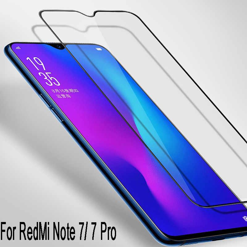 Full Keo Dán Kính Cường Lực cho Redmi 7 Note 8 7 Pro Phiên Bản Toàn Cầu ĐI Chống Sốc Toàn Vùng Phủ Sóng tấm Bảo Vệ màn hình Mặt Trước Bộ Phim