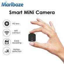 Marlboze 1080P HD WIFI كاميرا IP صغيرة للرؤية الليلية كشف الحركة كاميرا فيديو صغيرة حلقة مسجل فيديو المدمج في بطارية الجسم كام