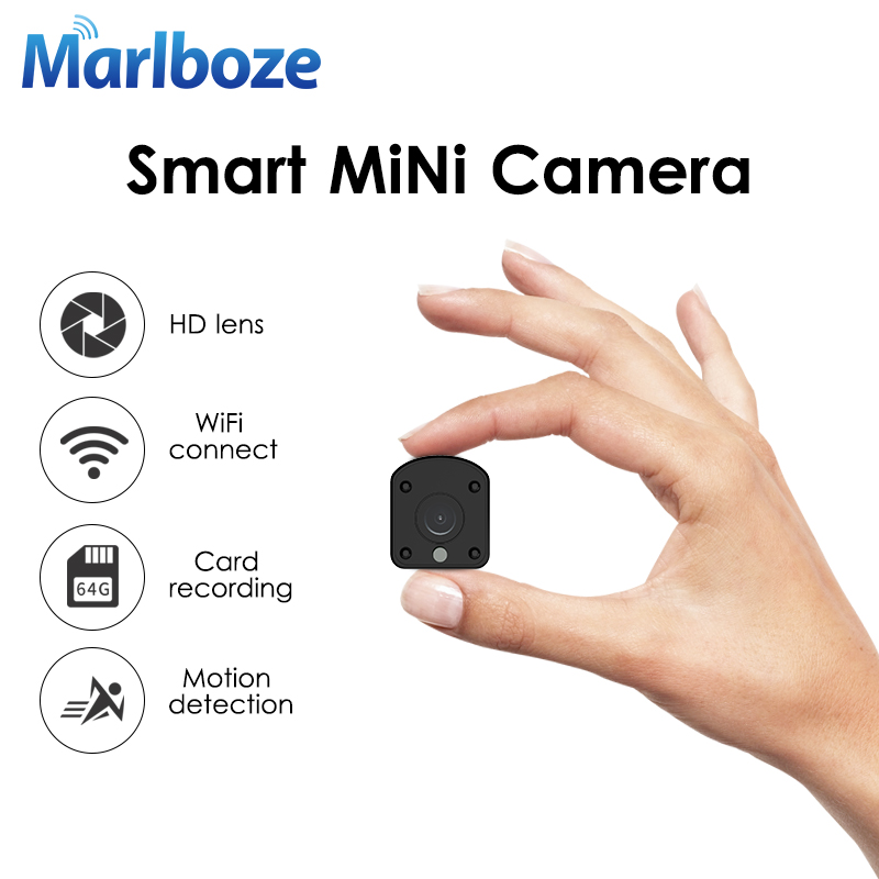 Marlboze 1080P HD WIFI Mini IP Camera Night Vision Motion Detect Mini Camcorder Loop Video Recorder Built-in Battery Body Cam