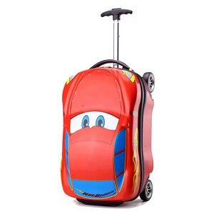 3D Kids Suitcase Car Travel Luggage Children Travel Trolley Suitcase for boys wheeled suitcase for kids Rolling luggage suitcase