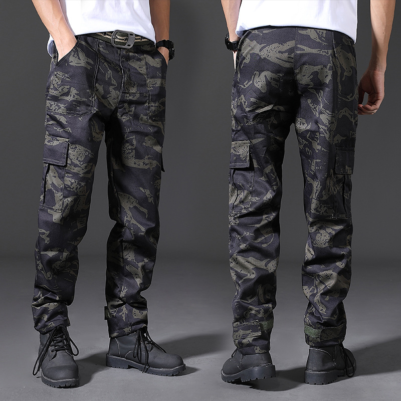 New Style Multi-pockets Camouflage Men Work Site Work Durable Wear-Resistant Work Work Clothes Loose And Plus-sized Workwear Men