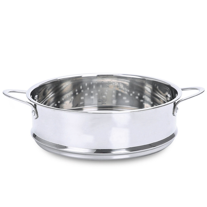 ABUI-18Cm 304 Stainless Steel Thickened Double Ear Steamer Electric Skillet Electric Cooker Matching Steamer Steaming Frame Dump