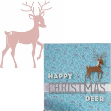 Sika Deer Frame Metal Cutting Dies Happy Christmas Die Cuts For Card Making Scrapbook DIY Decoration New 2019 Crafts Cards