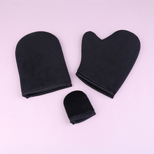Body Cleaning Glove Self Tanner Reusable Body Self Tan Applicator Tanning Gloves Cream Lotion Mousse cheap as shown MITT Glove Flocking sticker sponge + cloth