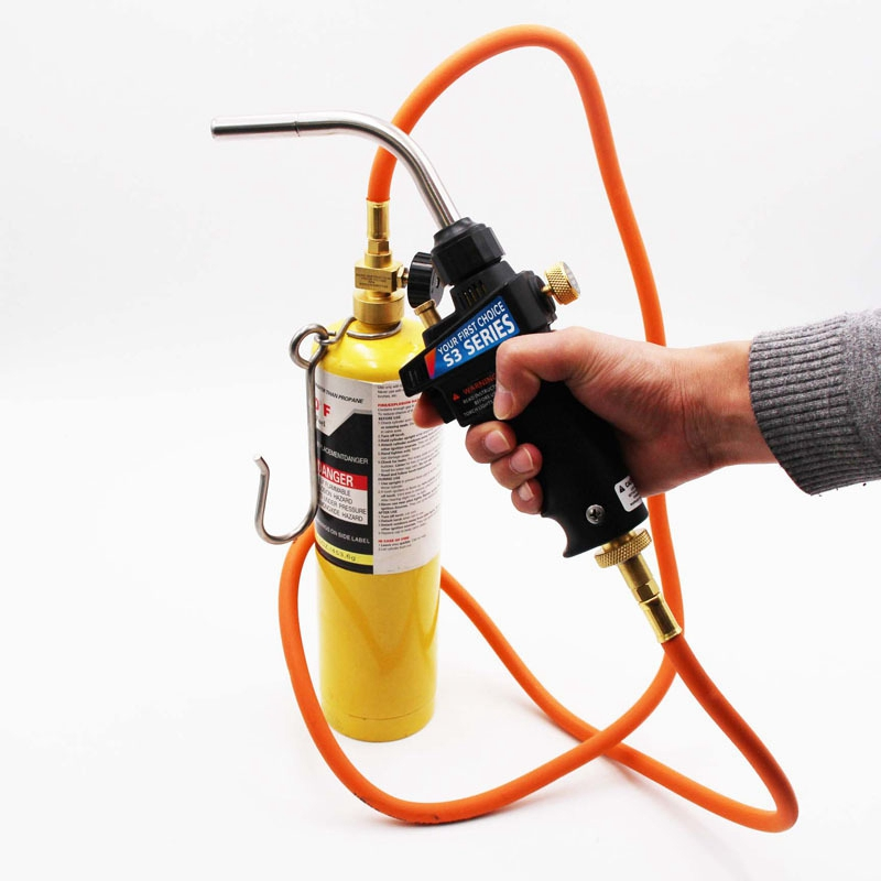 Tools : for Mapp Gas Brazing Torch Trigger-Start Torch Self Ignition Trigger 1 5M Hose for All Soldering
