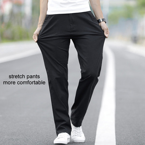 Image 3 - LOMAIYI Plus Size Men Pants Casual Spring/Summer Stretch Mens Classic Trousers Male 2020 Business Black/Khaki Pants Man BM221
