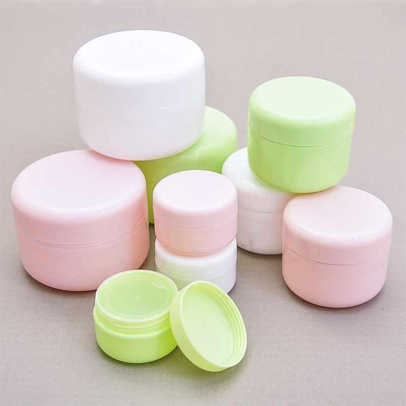 1 unidad 20/50/100g caja de almacenamiento de maquillaje viaje cosméticos cara crema envase de maquillaje plástico vacío Suelto frasco de polvo botellas recargables