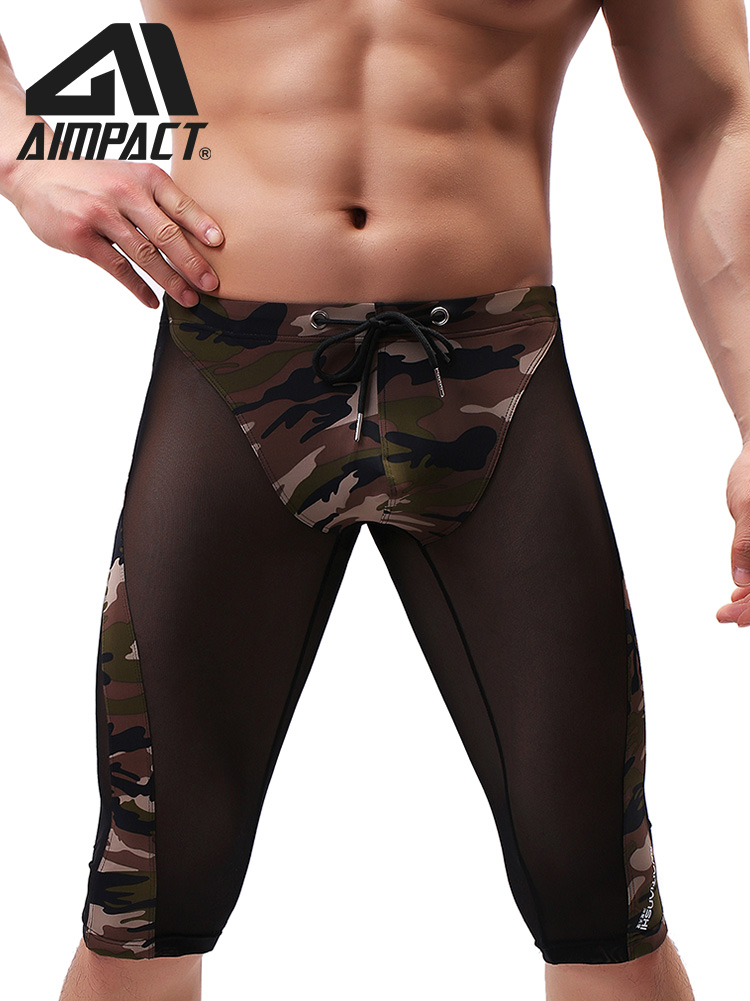 Mens Bodybuilding Shorts Fast Dry  Mesh Breathable Short Summer Training Tight Short Leggings Print Breathable Sexy For Men