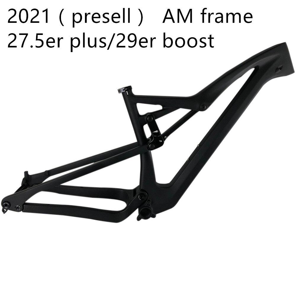 2021 SERAPH Per-sell  Carbon Fiber T700 Full Suspension 27.5er Plus And 29er Boost MTB Frame FM10 Accept Customization