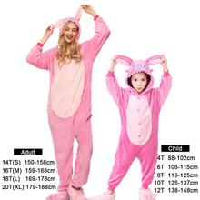 Odzież rodzinna kobiety różowe piżamy Kigurumi kombinezony męskie kombinezony dziecięce jednorożec Cartoon Kigurumi kombinezony Oneise Adult tanie tanio Poliester Unisex Pasuje mniejszy niż zwykle proszę sprawdzić ten sklep jest dobór informacji Flanelowe Floral Zwierząt