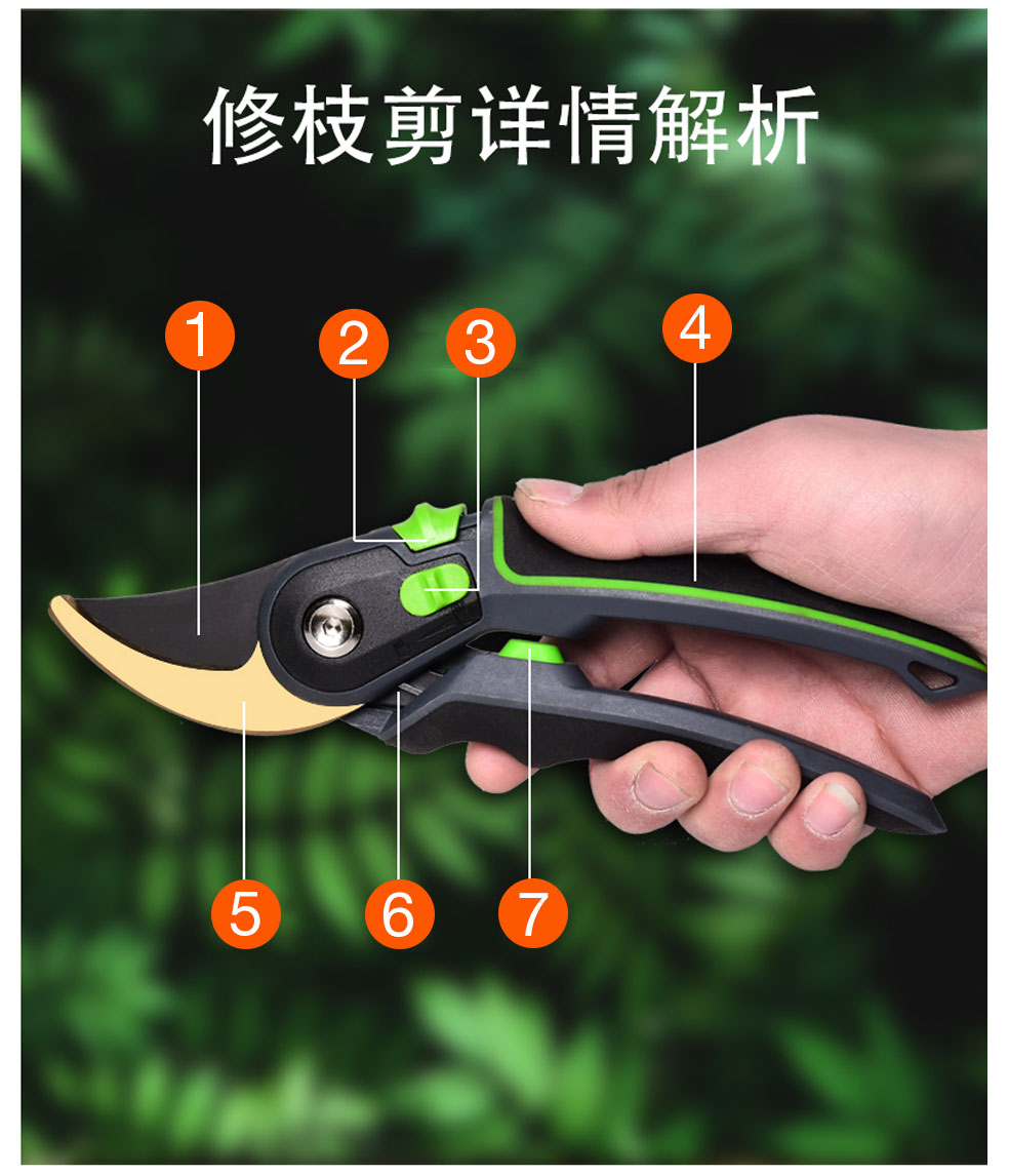 AI-ROAD flower shears total of 7 features