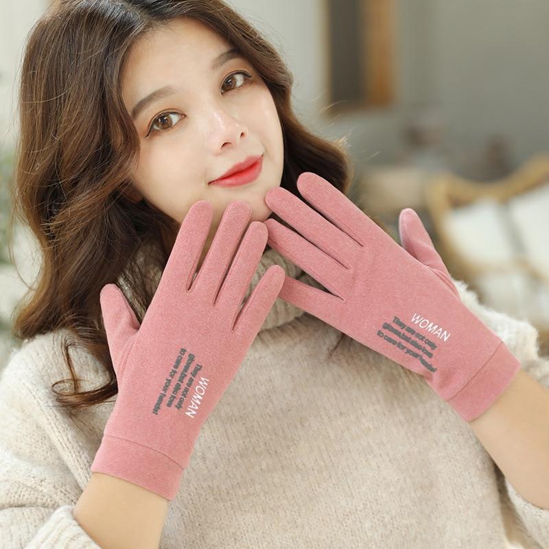 Women Gloves Winter Rabbit hair Warm Touch Screen Thin light Female Full Finger Gloves Lady Autumn Winter Outdoor Sport Driving