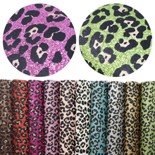 Faux-Leather-Set Vinyl-Fabric Glitter-Synthetic-Leather DIY Garment Hairbow Leopard Home-Textile