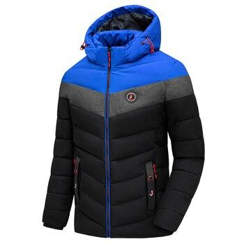 Men 2021 Winter Brand New Casual Warm Thick Waterproof Jacket Parkas Coat Men New Autumn Outwear Windproof Hat Parkas Jacket Men 2