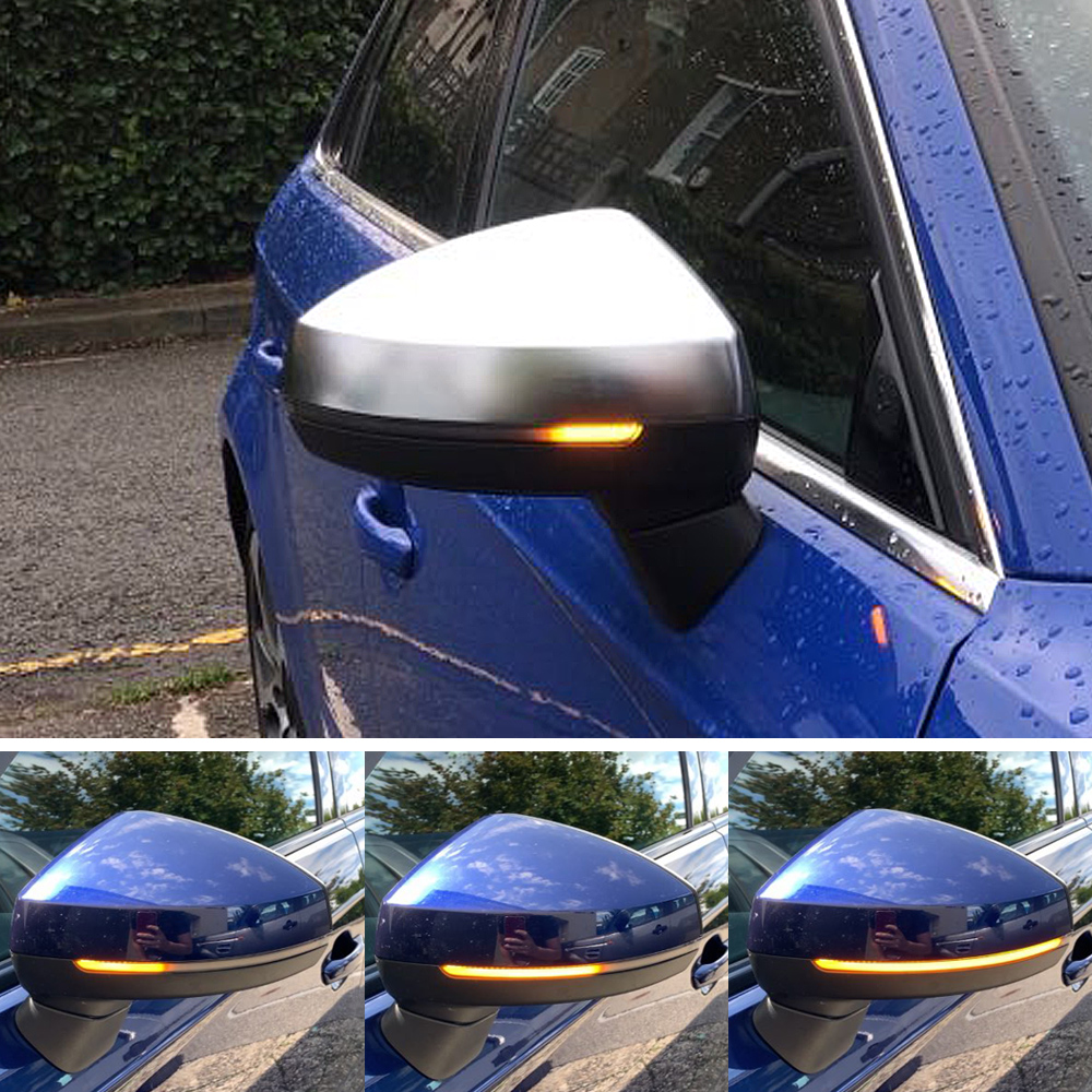 Flow Rearview Dynamic Sequential Mirror Flowing LED Turn Signal Light For Audi A3 8V S3 RS3 2013 2018Signal Lamp   -