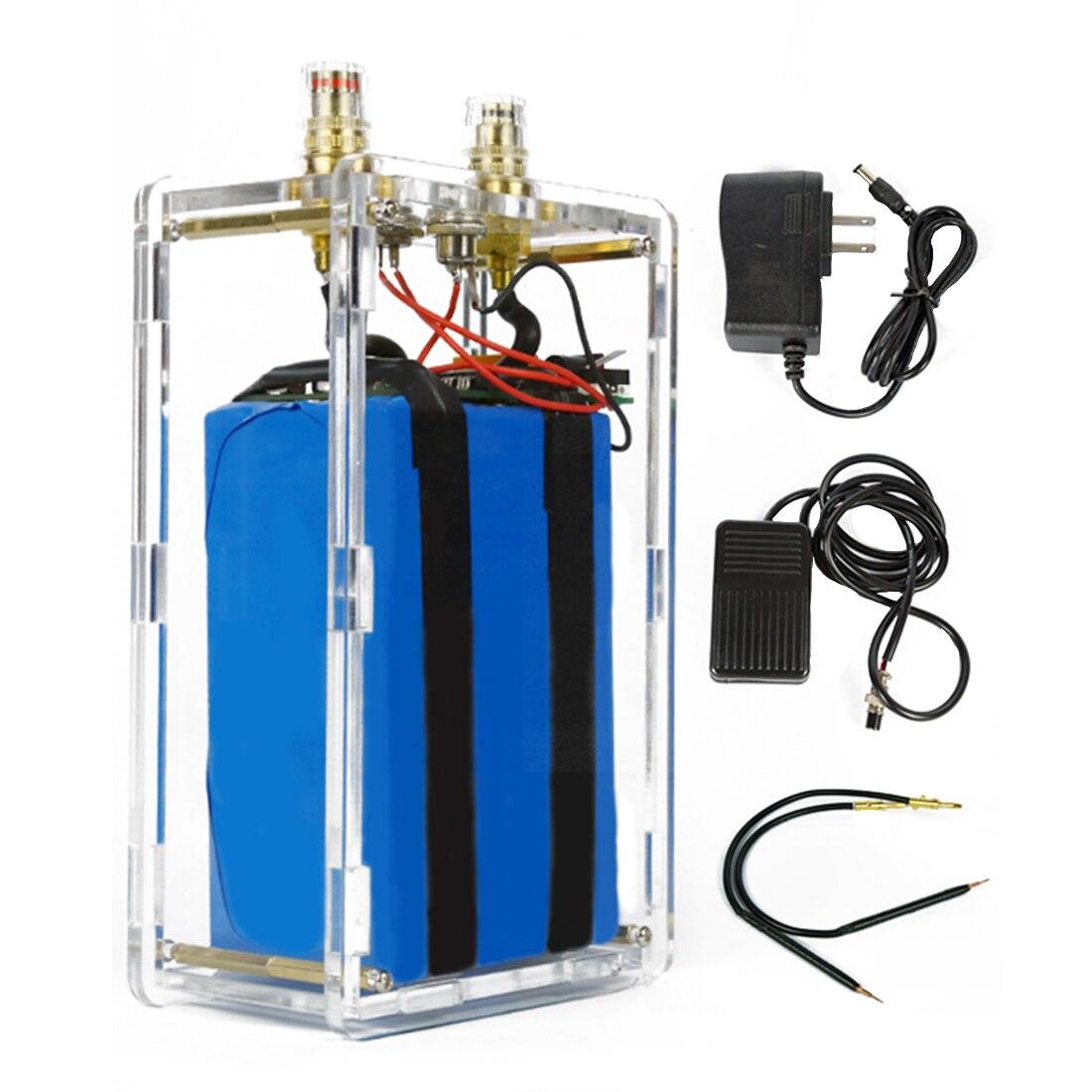 DIY Portable Spot Welder Lithium Battery Powered Spot Welder With Acrylic Shell
