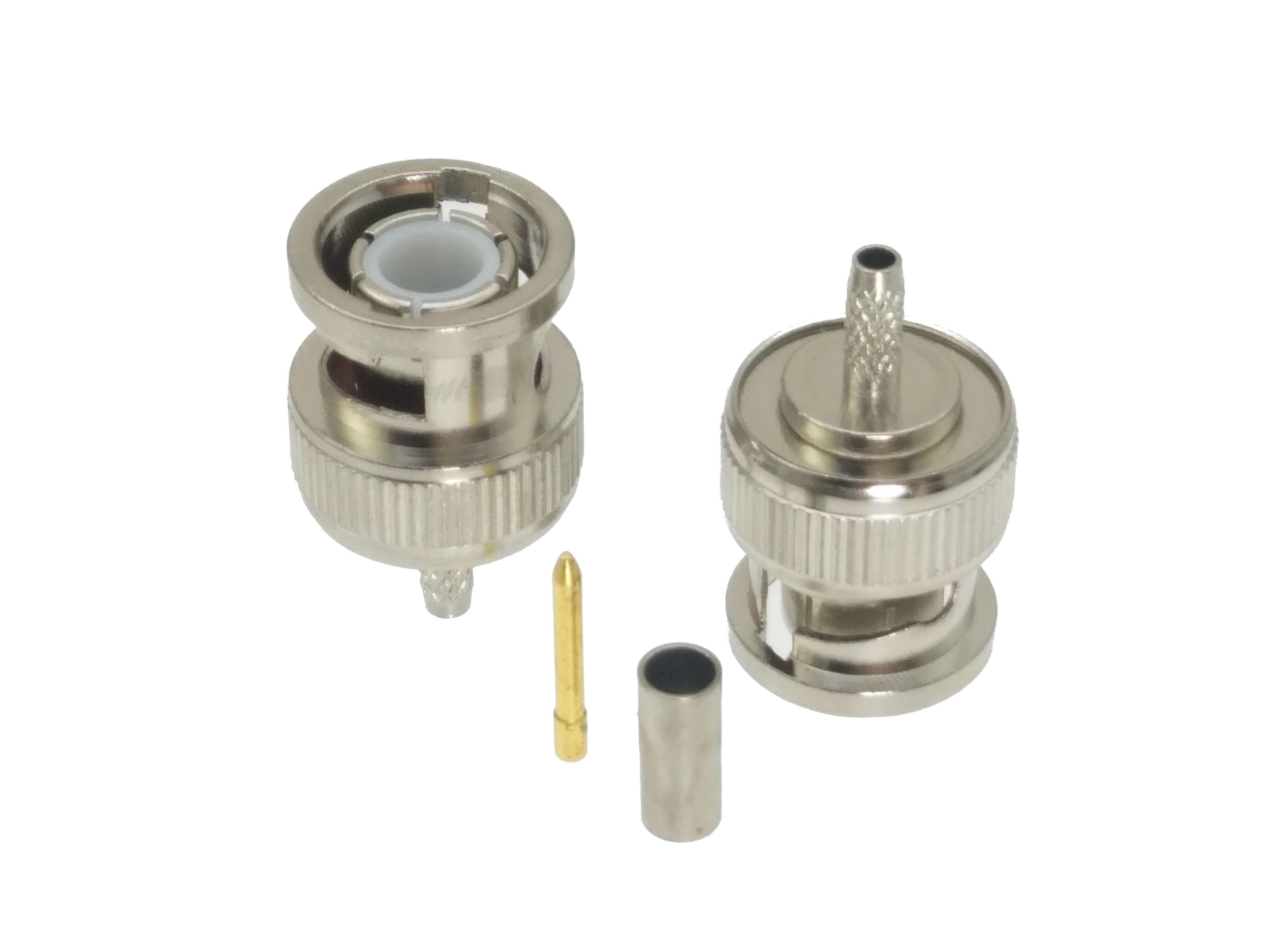 1pcs BNC Male Plug Crimp RG174 LMR100 RG316 Cable RF Coaxial Connector Adapter