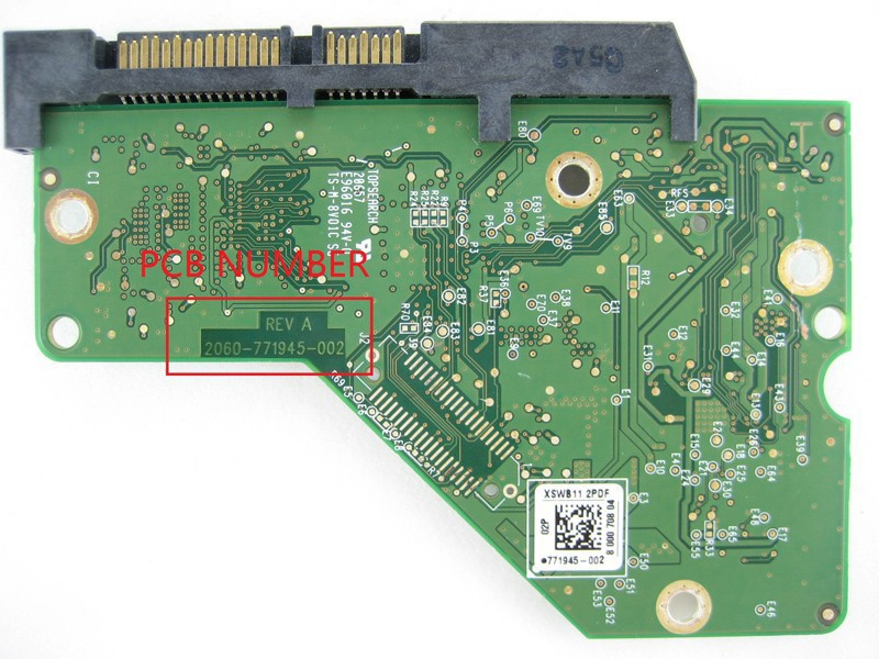 HDD PCB Logic Board Circuit Board 2060 771945 002 For 3.5 Inch SATA Hard Drive Repair Hdd Date Recovery