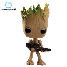 цена на Strongwell Groot Hot Toys Marvel Guardians Groot The Galaxy Avengers Cute Baby Tree Man Action Figure Toys