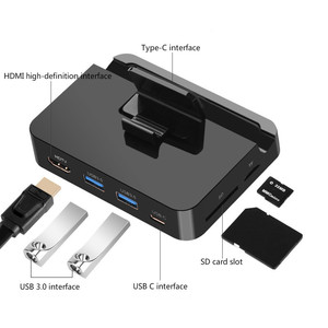 Image 3 - Type C Phone Docking Station Holder USB C To HDMI SD USB Dock Power Adapter For Samsung S10 S9 Dex Station Huawei P30 P20 Pro