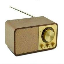 Retro Wood Grain Speaker Box Radio Bluetooth Portable Audio System Boombox Speakers Full Range Music Center Soundbox Usb Radio sounderlink audio labs 4 inch passive full range monitor pair studio monitors speakers soundbox