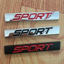 Nouveau 3D en alliage de Zinc autocollant emblème Badge décalcomanie nouveau Lavida Sport Logo barre carrée voiture style Auto réaménagement