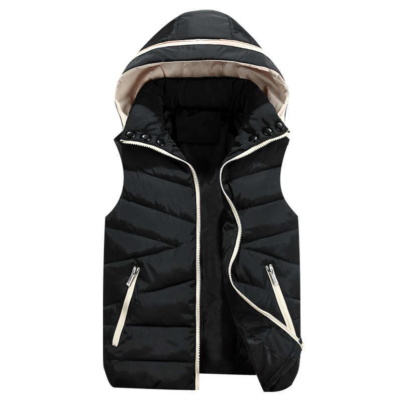 ベスト男性 New スタイリッシュな 2019 秋暖かいノースリーブジャケット男性冬用ベストメンズベストファッションカジュアルコートメンズプラスサイズ