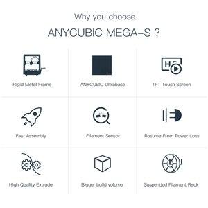 Image 5 - Anycubic 3D 프린터 업그레이드 Mega S 3d 인쇄 키트 플러스 사이즈 풀 메탈 터치 스크린 3d 프린터 Mega S 3D Drucker Impresora 3d