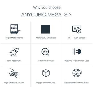 Image 5 - Anycubic 3D Printer Mega S 3d print Kits Plus Size MegaS Full Metal Touch Screen 3d Printer Mega S 3D Drucker Impresora 3d