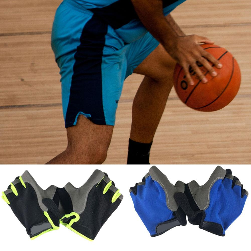 1 Pair Adult Kids Outdoor Sports Basketball Practice Gloves Ball Control Hand Shooting Skills Training Aids Half Finger Gloves