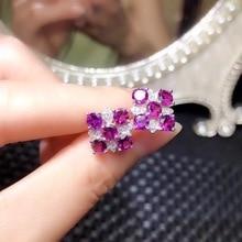 Fashion Design 925 Silver Natural Garnet Ear Nails Cheap High end Jewelry Monopoly