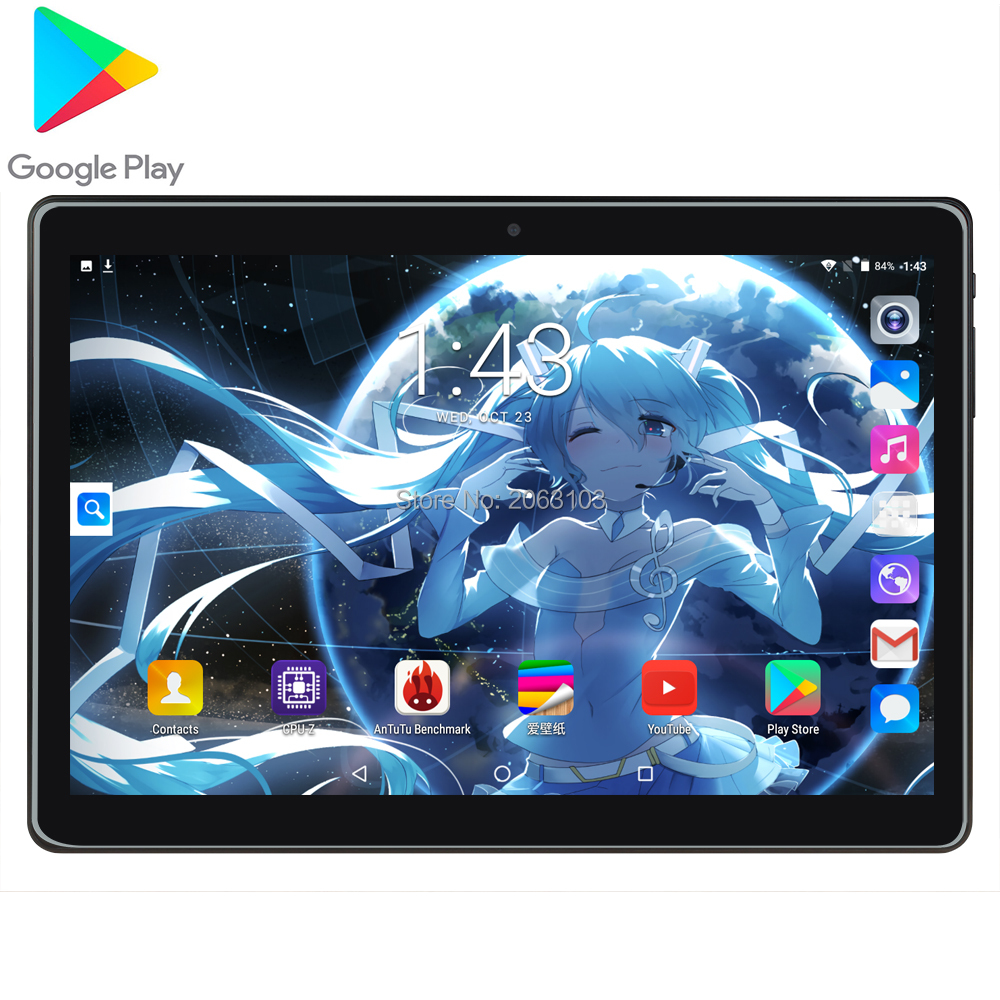 2020 New Google Android 7.0 OS 10 Inch Tablet 3G Quad Core 2GB RAM 32GB ROM 1280*800 IPS Kids Gift Tablets 10 10.1