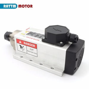 Image 5 - RU ship Square 2.2kw Air cooled spindle motor ER20 runout off 0.01mm,220V,4 Ceramic bearing for CNC Router Engraving milling